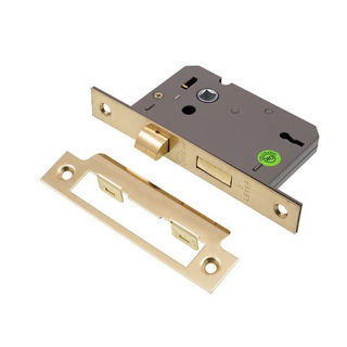 """Picture of 3 Lever Sashlock Electro Brass 63mm (2.5"""")"""