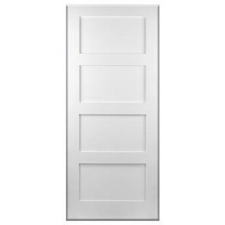 White Primed 4 Panel Shaker Door 42mm Murdock Builders Merchants