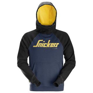 Snickers AW Logo Hoodie Navy Murdock Builders Merchants