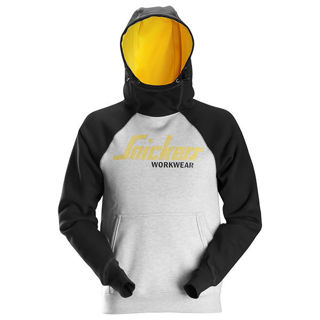 Snickers AW Logo Hoodie Grey