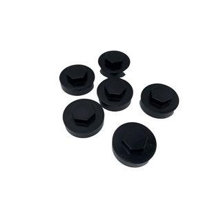 Rawlplug Tex Screw Cover Cap Black
